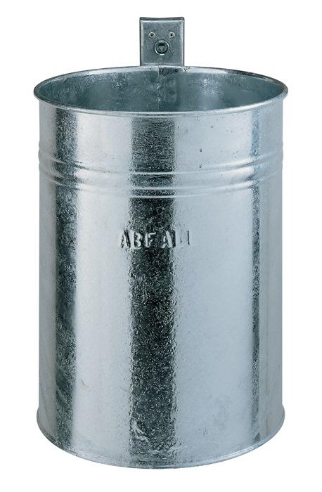 Abfallbehälter H430xØ330mm 35l verz.