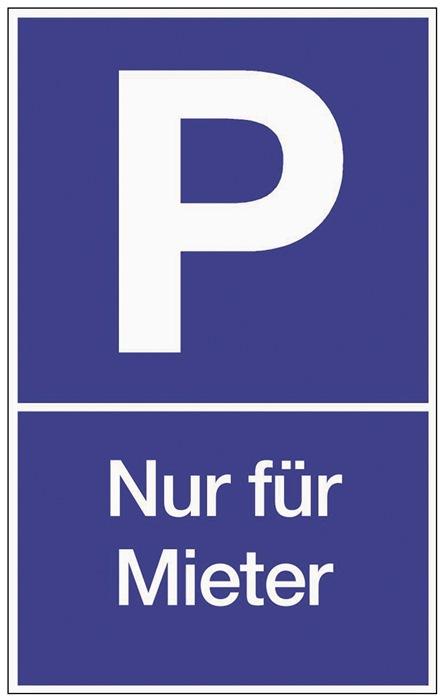 Parkplatzbeschilderung Parken f.Mieter