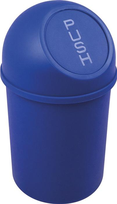 Abfallbehälter H375xØ214mm 6l blau HELIT