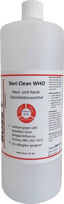 Hände-Desinfektionsmittel Boss Steri