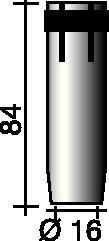 Gasdüse kon.16mm f.Brenner ERGOPLUS 36