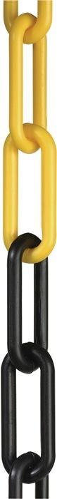 Absperrkette Ku.gelb/schwarz 6mm L.25m