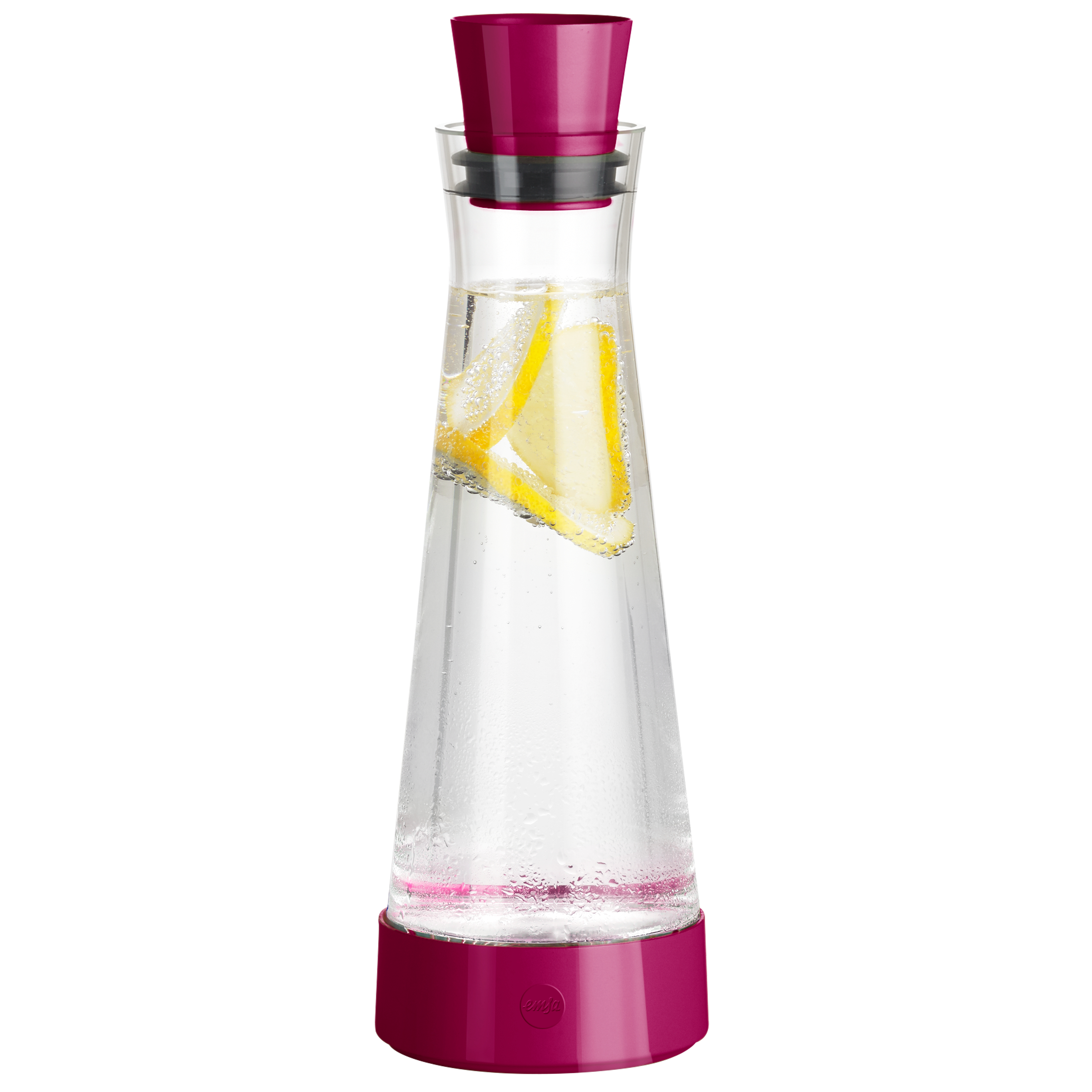 EMSA 515477 FLOW SLIM FRIENDS Glas-Kühlkaraffe 1,0 L Himbeer