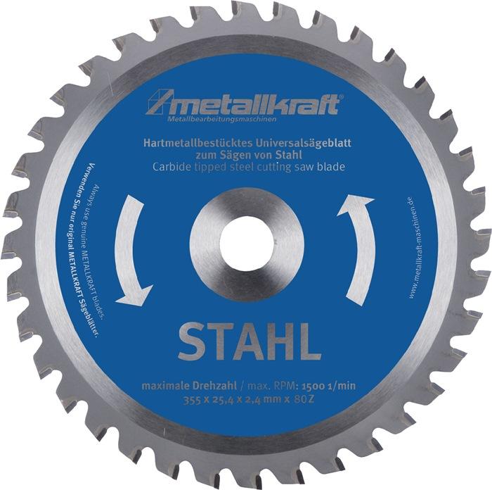 Metallkreissägeblatt STA D.355mm B.2,4mm