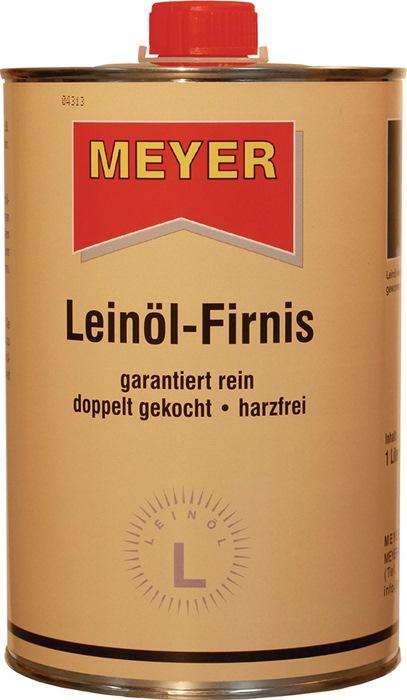 Leinöl-Firnis honigfarben 1l Dose MEYER