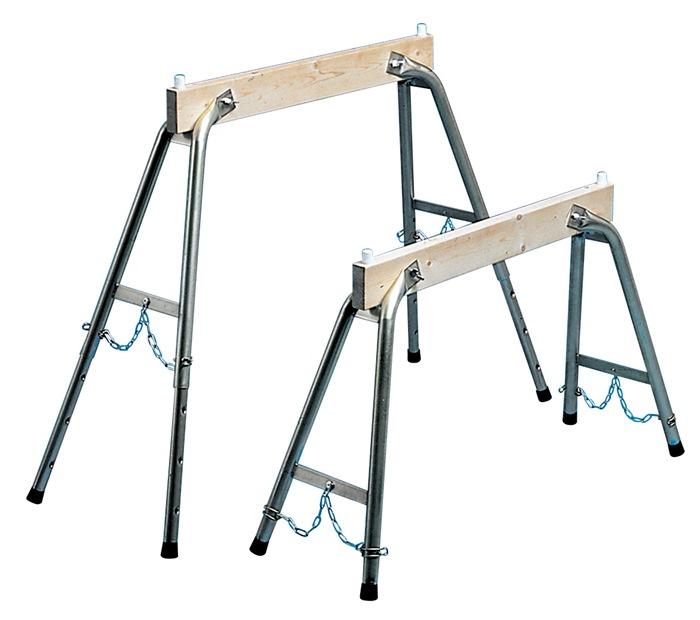Arbeitsbock H.max.900mm Holz/Stahlrohr