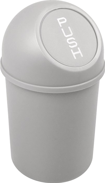 Abfallbehälter H375xØ214mm 6l lichtgrau