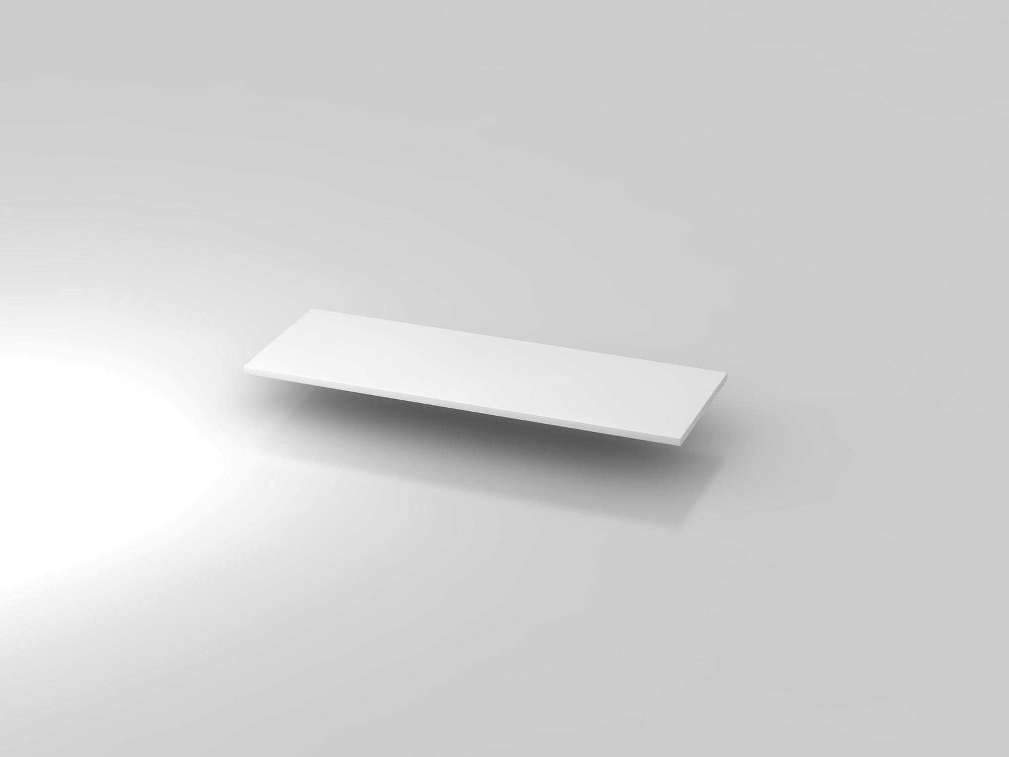 Abdeckplatte 120,5x43cm Weiß