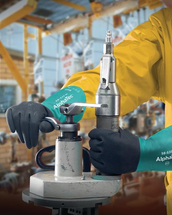 Chemiehandschuh Alpha-Tec 58-535W Gr.10