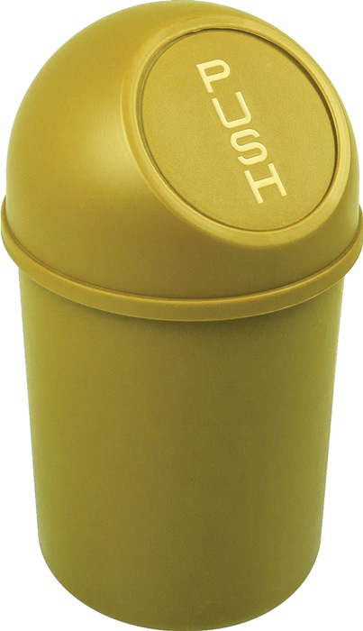 Abfallbehälter H375xØ214mm 6l gelb HELIT