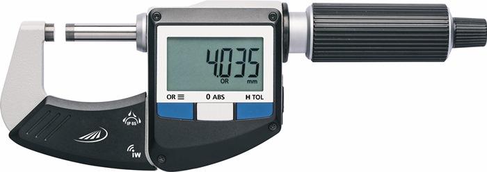 Bügelmessschraube IP65 0-25mm dig.m.Funk