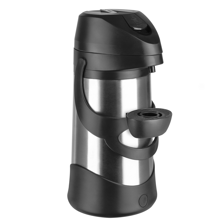 EMSA 500832 PRESTO Pump-Isolierkanne 1,9 L Edelstahl schwarz - 12h heiß - ideal für große Gruppen, Feiern und Veranstaltungen