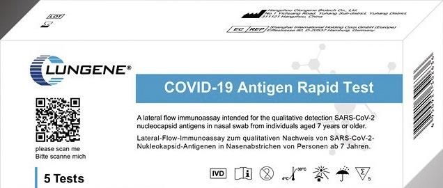 Corona Antigen Schnelltest Clungene