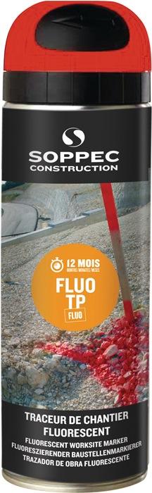 Baustellenmarkierspray FLUO TP leuchtrot