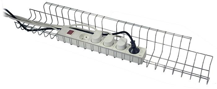 Kabelkorb B790xT100xH80-85mm silber