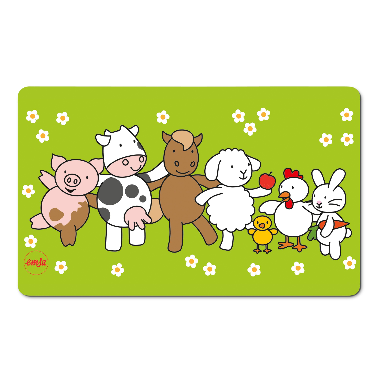EMSA 509712 KIDS Brettchen Farm Family - Schneidbrett - Frühstücksbrettchen für Kinder
