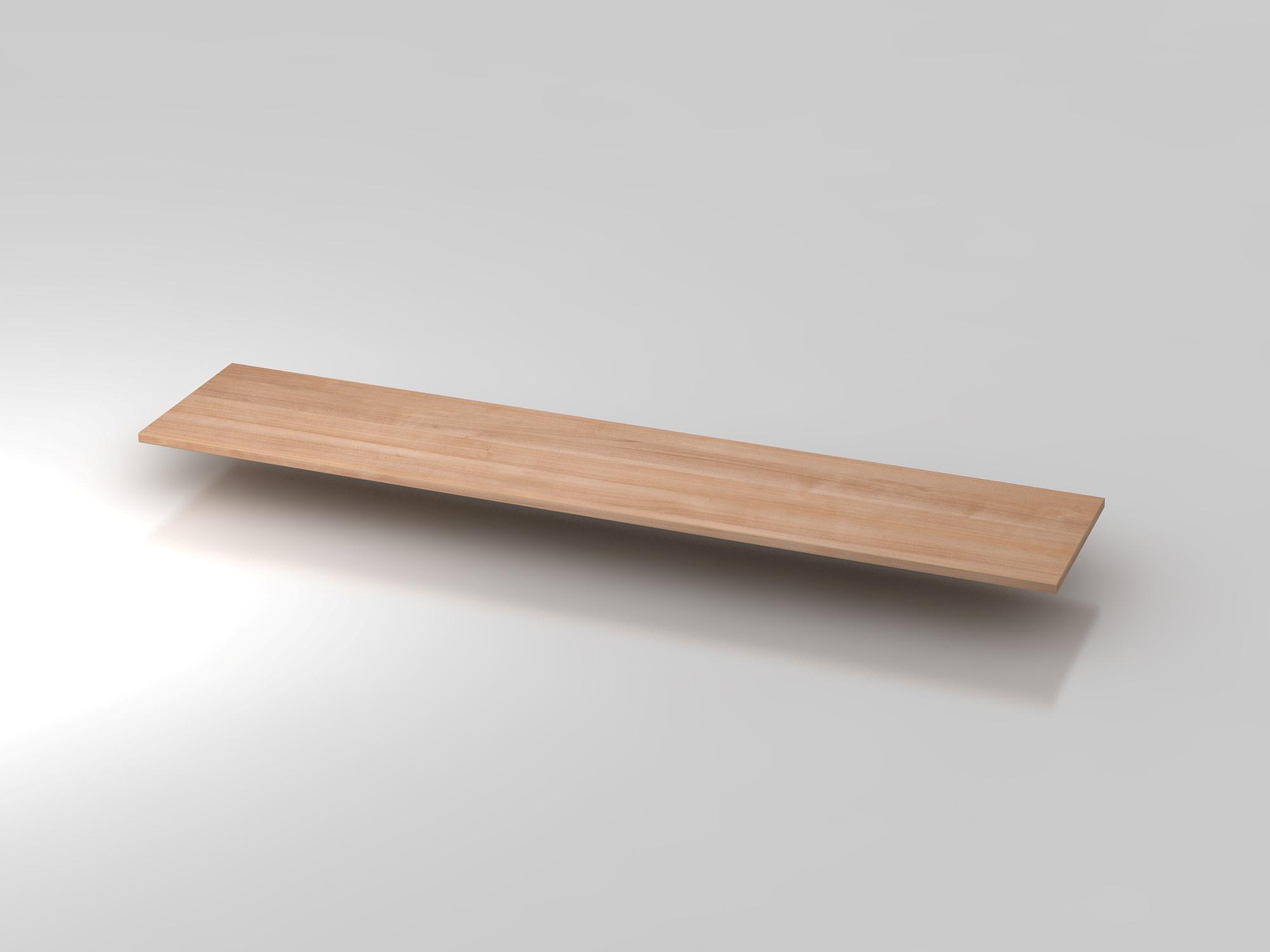 Abdeckplatte 200,5x43cm Nussbaum