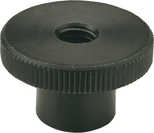 Hohe Rändelmutter DIN466 d1 M 10mm d2