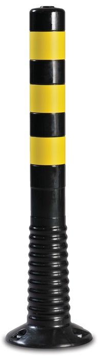 Sperrpfosten Polyurethan schwarz/gelb