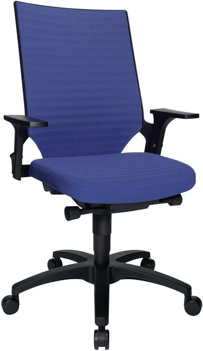 Bürodrehstuhl m.Autosynchrontechnik blau
