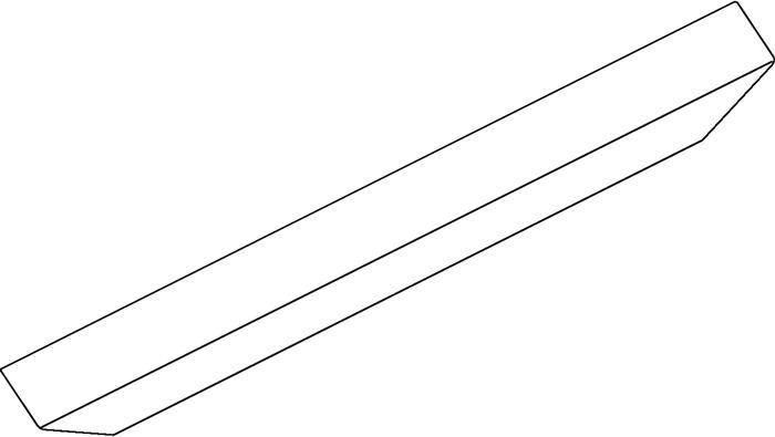 Abdeckp.OL 90 silber L.3000mm GEZE