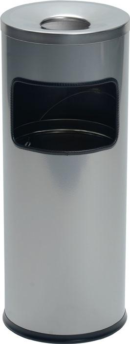 Kombiascher Ø250xH630mm silber