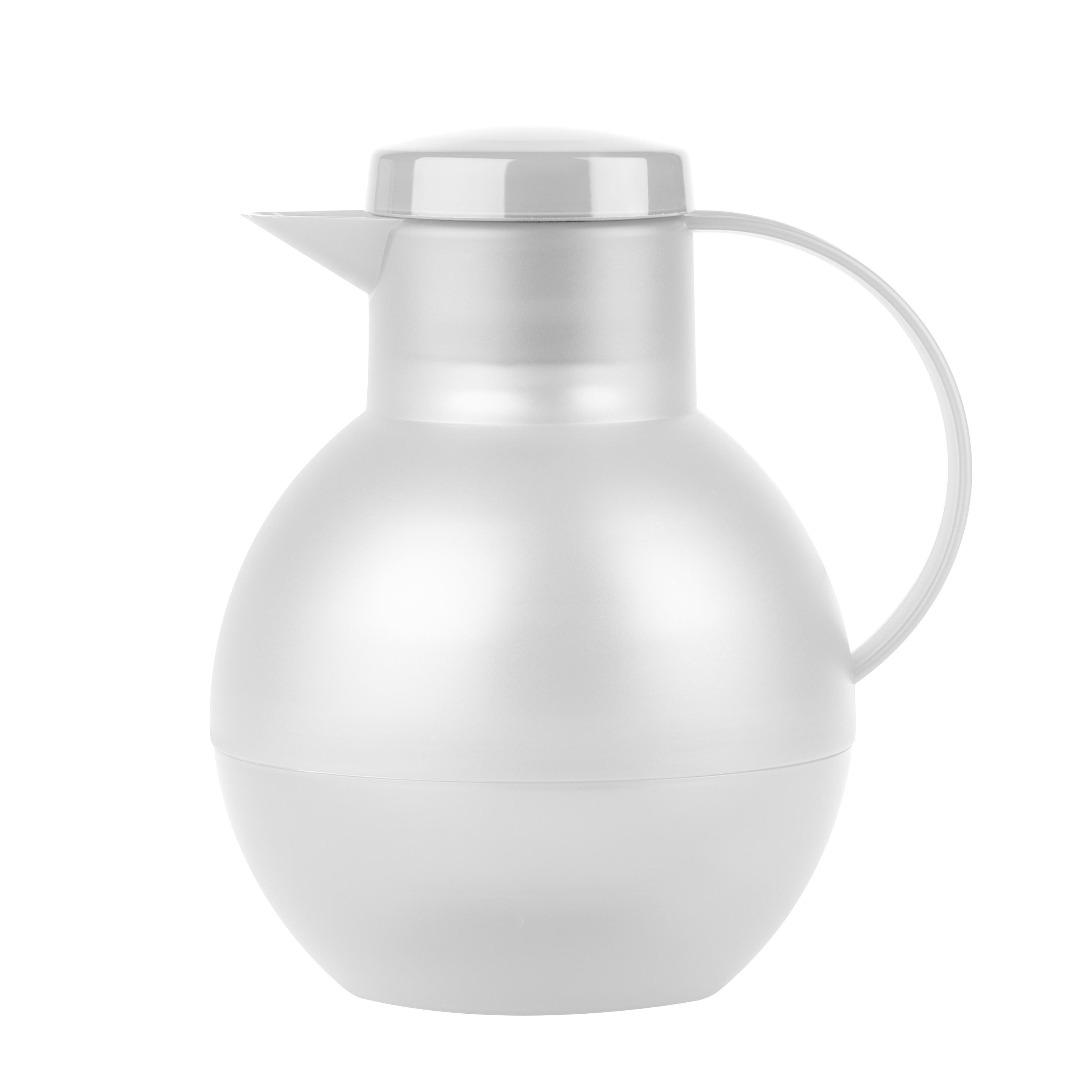 EMSA 509154 SOLERA TEE-ISOLIERKANNE 1,0L Weiß transluzent Schraubverschluss - mit AROMA-Teesieb