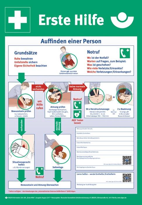 Erste-Hilfe-Plan n.DGUV Information