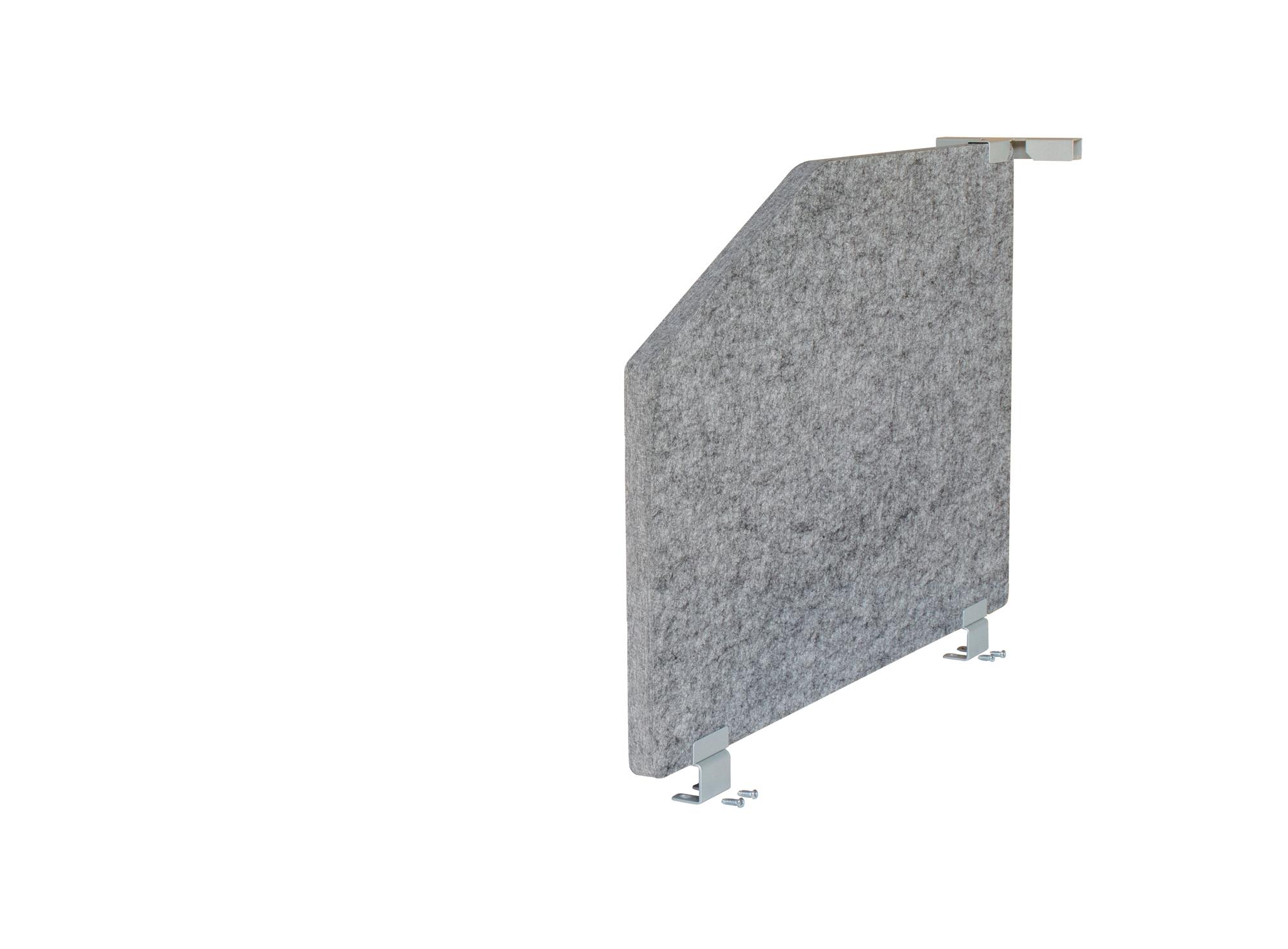 1-Set Akustikseitenwand 73,5x50, grau-meliert