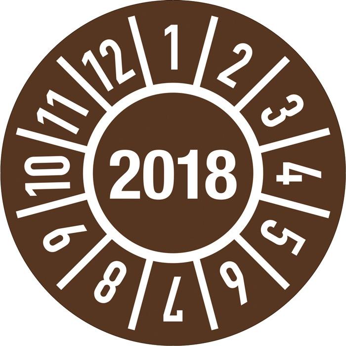 Einjahresprüfplakette D.30mm Jahr 2021