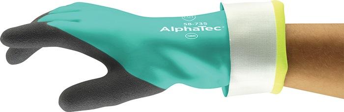 Chemiehandschuh AlphaTec 58-735 Gr.10