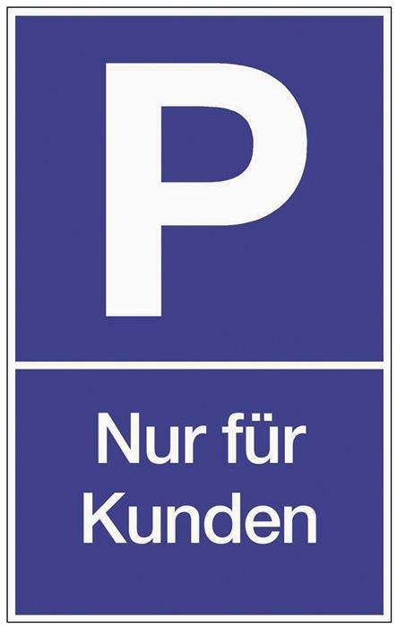 Parkplatzbeschilderung Parken f.Kunden