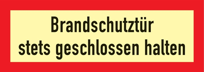 Brandschutzzeichen DIN 4066 L297xB105mm