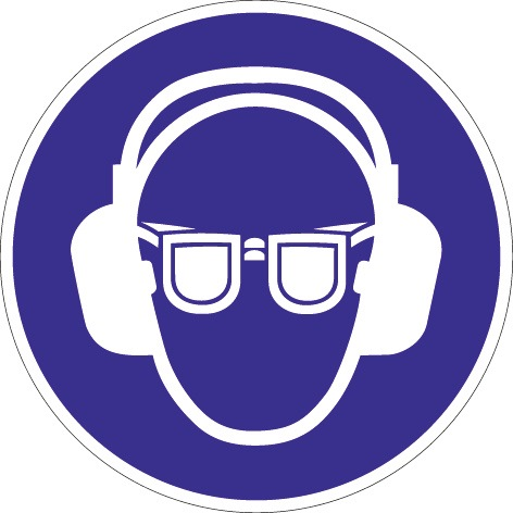 Folie Gehör-/Augenschutz benutzen