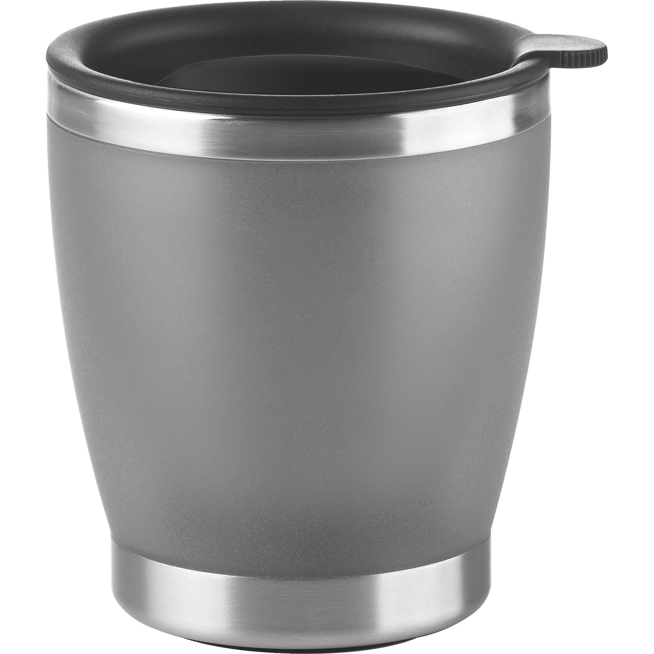 EMSA 50840 CITY CUP Isolierbecher 0,2 L Edelstahl/Silber mit Deckel - ideal für Vollautomaten und Kapselmaschinen