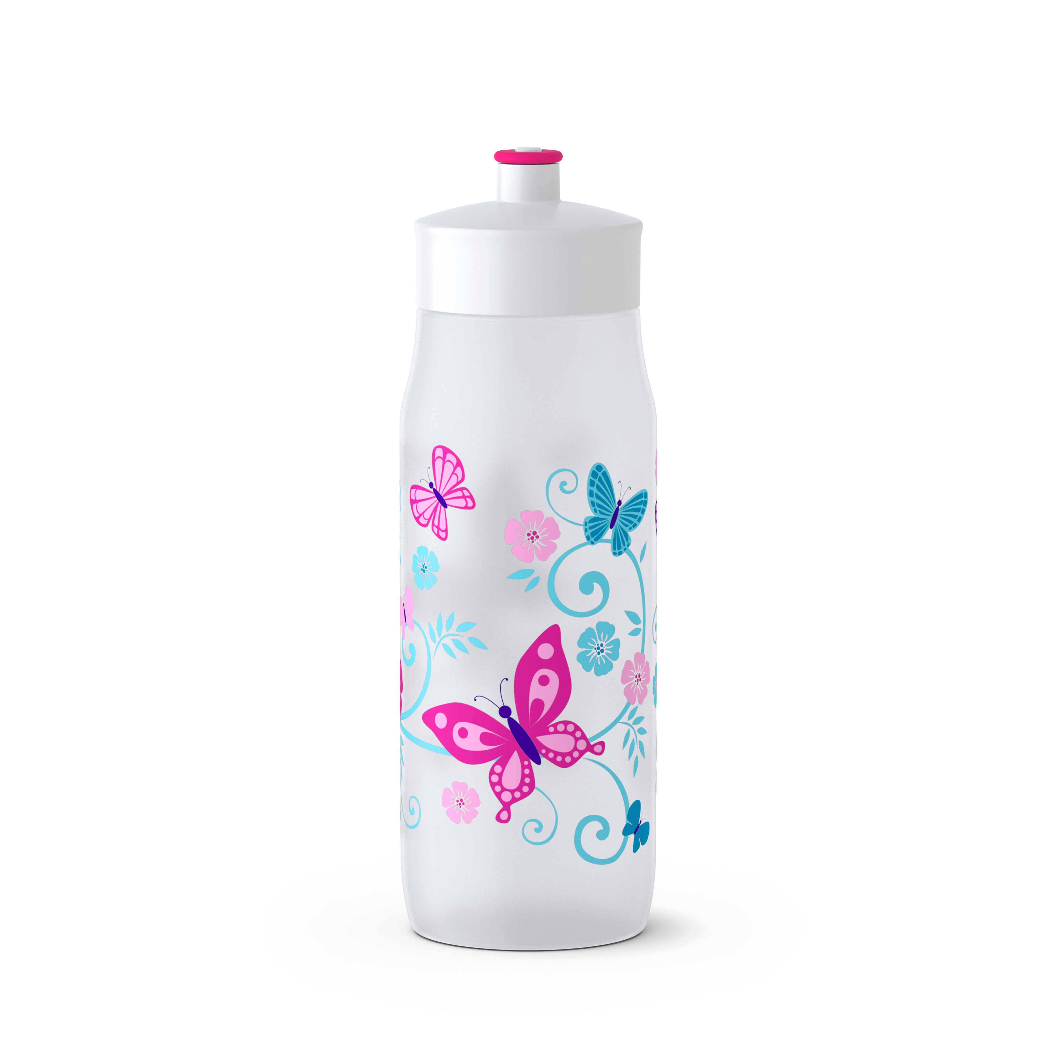EMSA 518093 SQUEEZE Trinkflasche 0,6 L BUTTERFLY