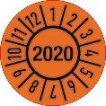 Einjahresprüfplakette D.15mm Jahr 2020
