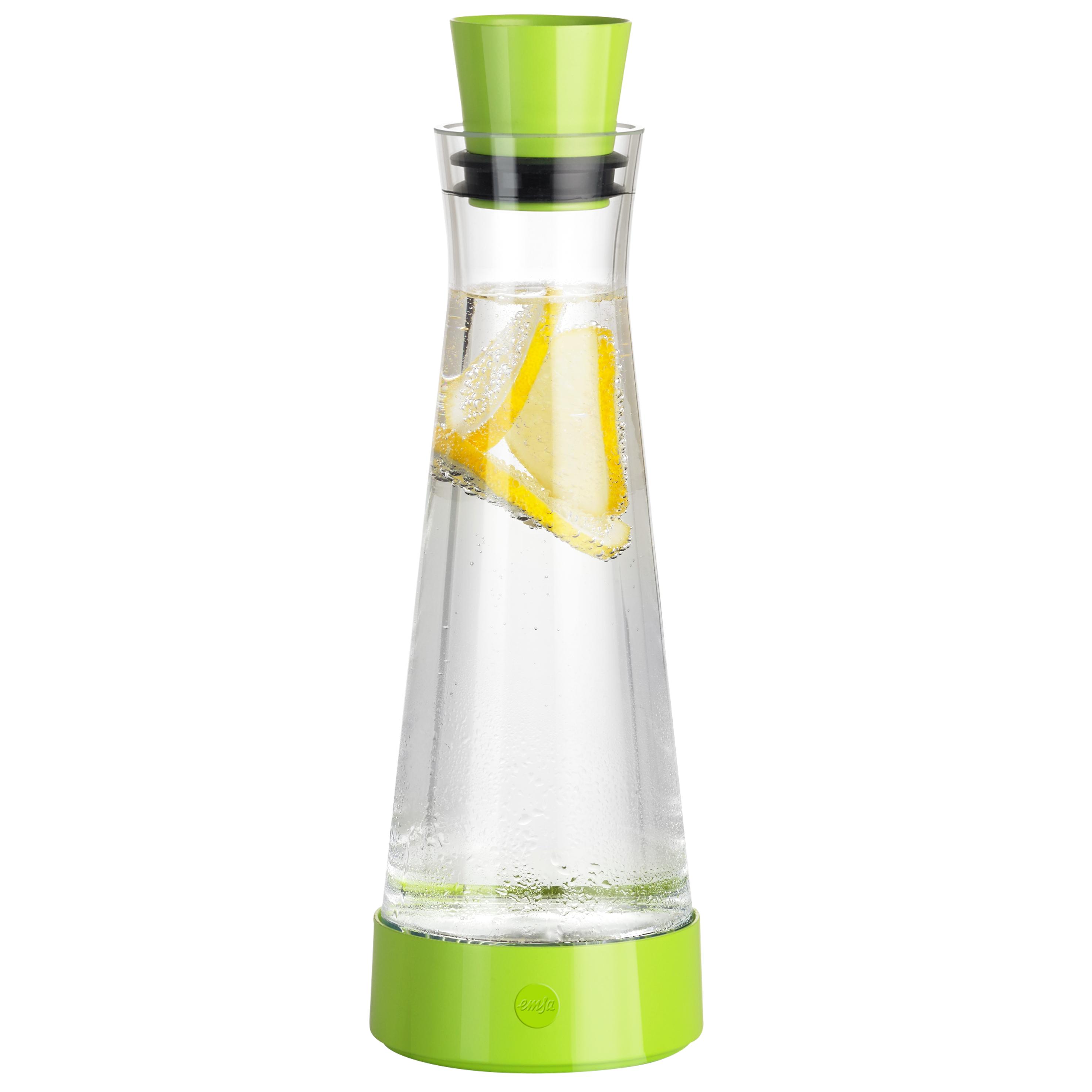 EMSA 515478 FLOW SLIM FRIENDS Glas-Kühlkaraffe 1,0 L Hellgrün