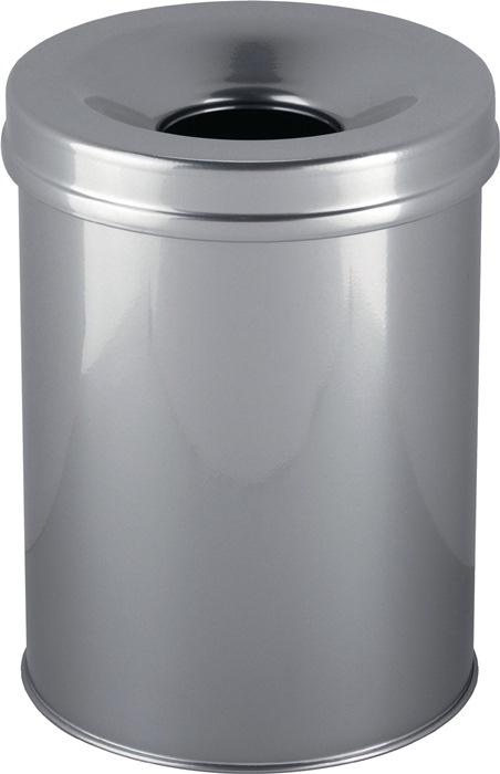 Abfallbehälter H357xØ260mm 15l silber