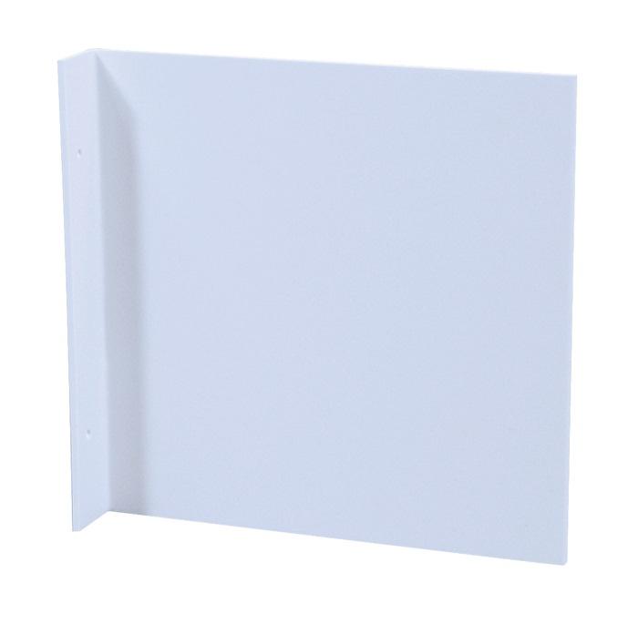 Fahnenschild L148xB148mm blanko weiß f.