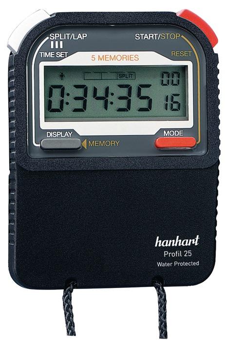 Stoppuhr Pro 25 1/100 Sek.dig.HANHART