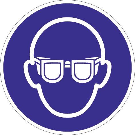 Folie Augenschutz benutzen D.200mm