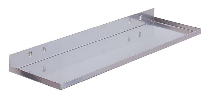Ablageplatte B350xT125mm alufarben