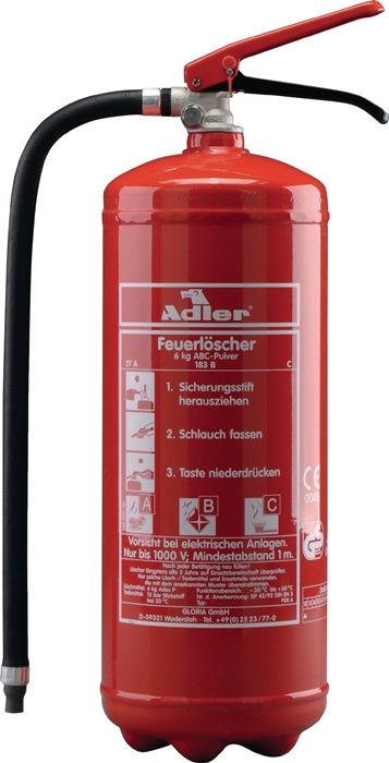 Pulverfeuerlöscher Adler PDE12 12 kg