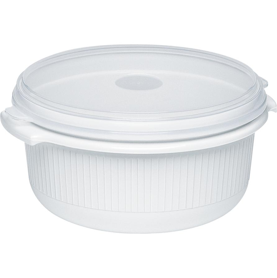 EMSA 450101200 MICRO FAMILY MIKROWELLENGESCHIRR 1,0L weiß - geschmacksneutral, effiziente Hitzeverteilung, ideal zum Auftauen, Erhitzen und Mikrowellenkochen