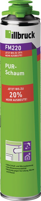 1K-PUR-Schaum FM220 500 ml B2 gelb