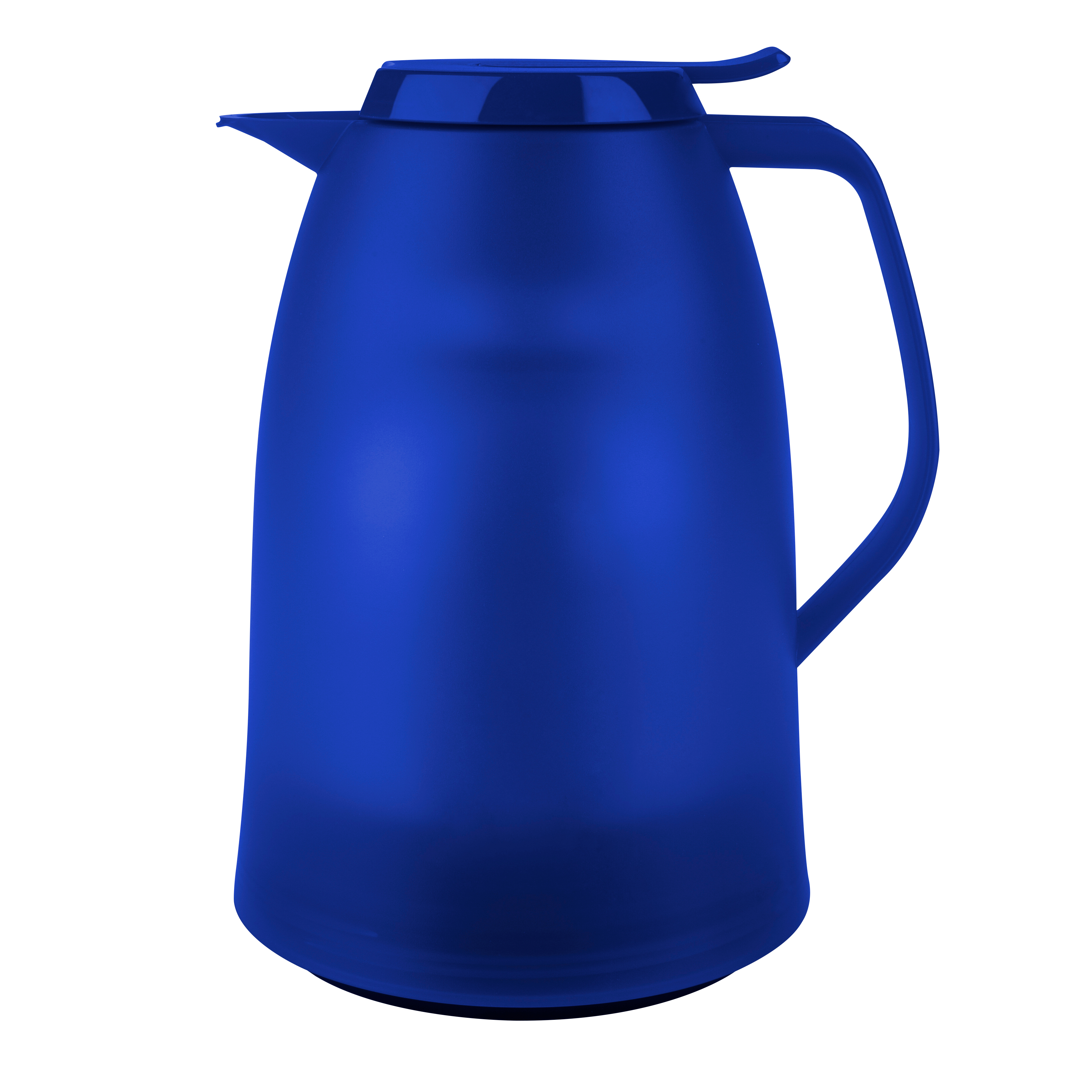 EMSA 514506 MAMBO Isolierkanne 1,0L Blau transluzent - made in Germany - 100 % dicht - hält 12h heiß