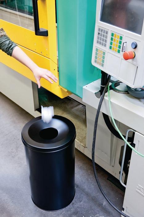 Abfallbehälter H357xØ260mm 15l grau