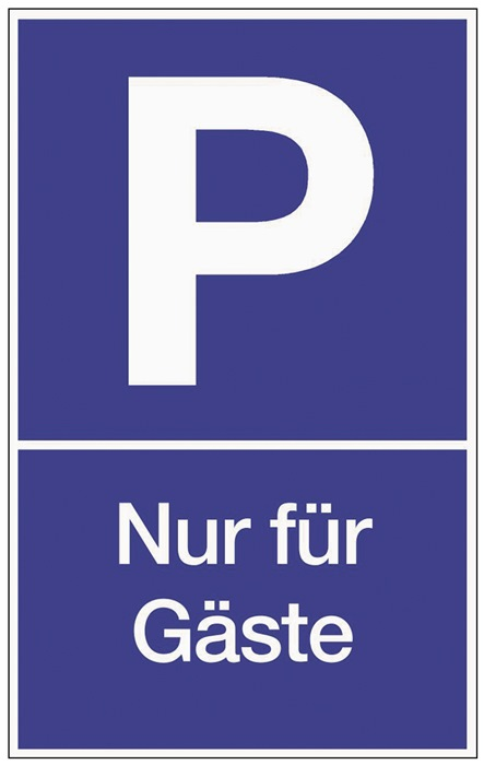 Parkplatzbeschilderung Parken f.Gäste