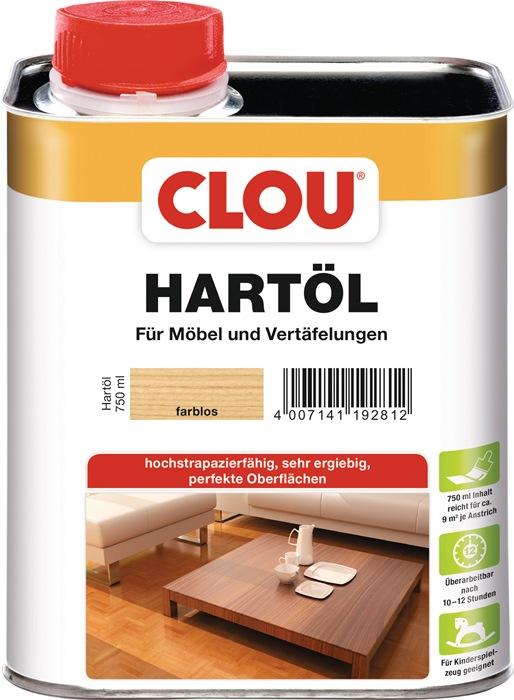 Hartöl farblos 750 ml Dose CLOU